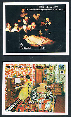 Gambia 1993 FamousPaintings 2x MS SG 1728 MNH