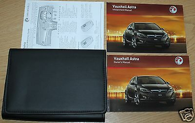 Vauxhall Astra J Owners Manual Handbook Wallet 2009-2012 Pack
