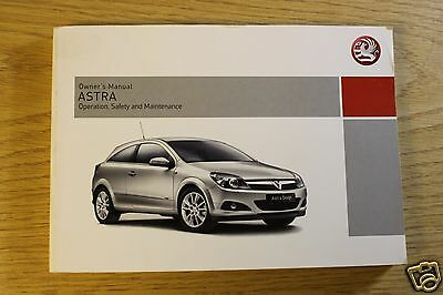 Original Vauxhall Astra Owners Manual Handbook 2004-2010  Book
