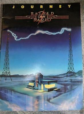 JOURNEY Raised on Radio Guitar Tab Tablature Song Book Used 1986 56 page