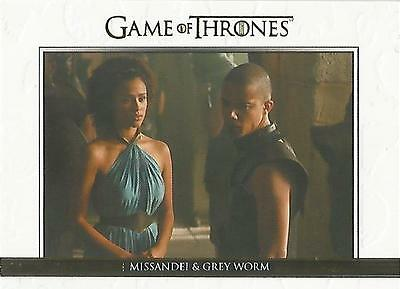 "Game of Thrones Season 5: DL26 GOLD Parallel ""Relationships"" Chase Card #165/225"