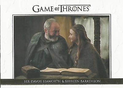 "Game of Thrones Season 5: DL29 GOLD Parallel ""Relationships"" Chase Card #212/225"