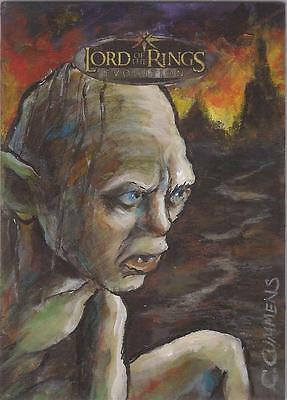 "Lord of the Rings Evolution - Cynthia Cummens ""Gollum"" Artist Return Sketch Card"