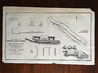 Holston River TN Tennessee Iron Works 1827 Survey Map Site for a National Armory