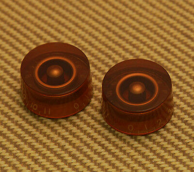 2 Amber 1-11 Speed Knobs for Gibson®//Guitar//Bass w//CTS Split Pots PK-0132-022