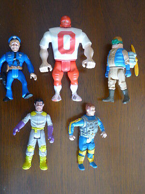 Vintage 1988 Collectible 5 Ghostbusters Action Figures