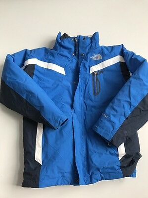 The North Face Boy Size Large Blue Triclimate Hyvent Jacket with inliner