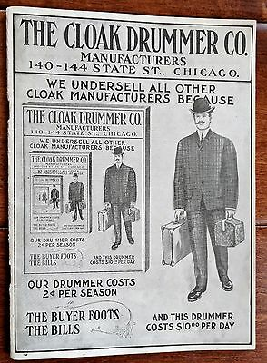 Early 1900's Fashion Catalog THE CLOAK DRUMMER CO. Chicago ILL