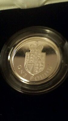 1988 £1 SILVER PROOF Coin - Original Royal Mint One Pound Case & COA