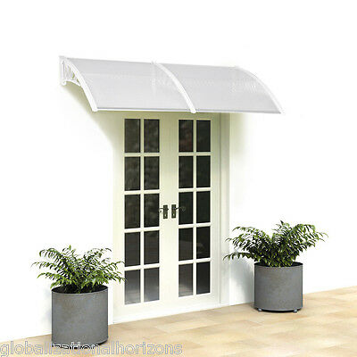 Door Canopy Awning Rain Shelter Corrugated Front Back Porch Outdoor Shade Roof
