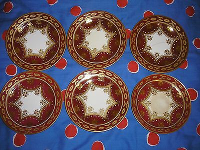 Hand Painted Antique Vintage 5xSide plates + Saucer. Not signed.