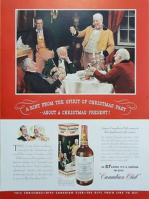 1939 ORIG.PRINT AD CANADIAN CLUB WHISKY a hint from the Spirit of Christmas Past