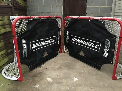2 Hockey Goals And Winwell Target Covers