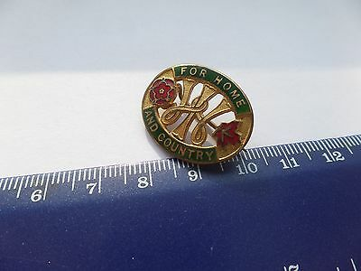 Vintage Enamel For Home And Country WI Womens Institute Pin Badge Fattorini WW2