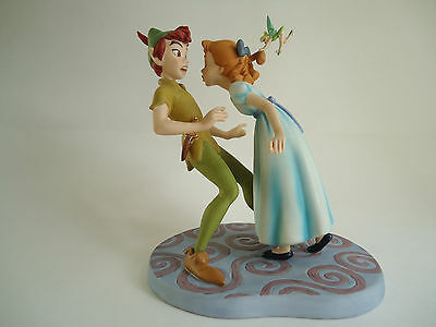 """WDCC Rare Figurine of """"PETER, WINDY and TINKERBELL"""" NEW in BOX,Hard to find."""