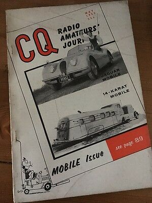 CQ Radio Amateur's Journal May 1955 'Mobile Issue' featuring Mobile Radio