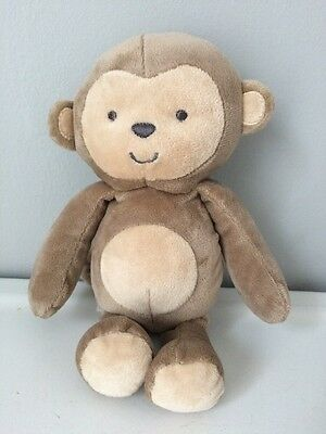 Carters Child Of Mine Tan Brown Plush Stuffed Monkey Rattle Baby Toy 62075