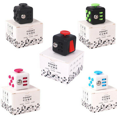 Fidget Cube Anxiety Stress Relief Focus Toys Adults Kids Attention Therapy