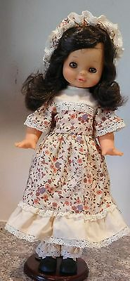 "Vintage 1960's  Made in France 15 1/2"" Vinyl Cute Little  French Girl  Doll"