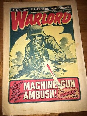 Warlord Comic #74 February 21st 1976 , 'Sniper' cover art