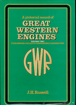 A PICTORIAL RECORD OF GREAT WESTERN ENGINES Vol. 2 -  RAILWAY BOOK BY RUSSELL