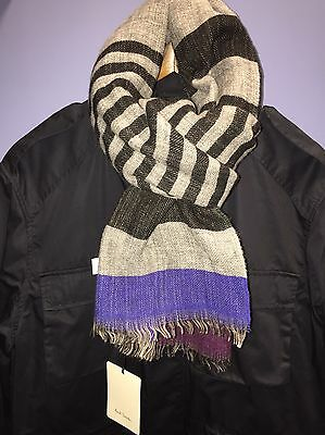 BNWT Paul Smith Men's Striped Wool Scarf. Smart, Casual, Formal