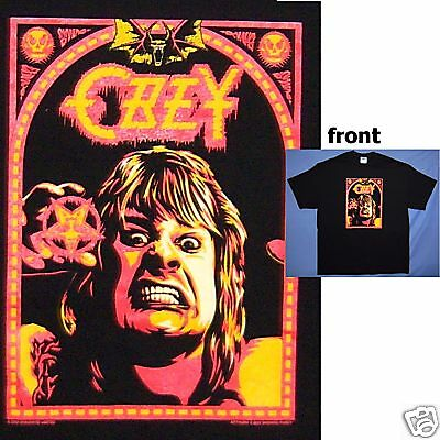 Ozzy Osbourne! Shepard Fairey Young Image Blk T-Shirt Xl New Licensed