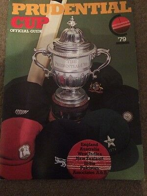 Prudential Cricket World Cup 1979 Official Guide