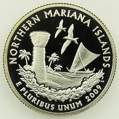 2009 S Deep Cameo Clad Proof Northern Mariana Islands State Quarter (B03)