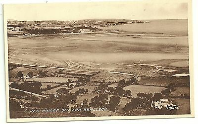 Anglesey postcard Red Wharf Bay & Benllech aerial view