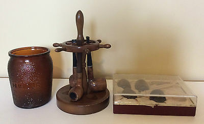 Tobacco Pipe Collectible Antique Smoke Humidor Vintage Holder Ends Novelty Pipes