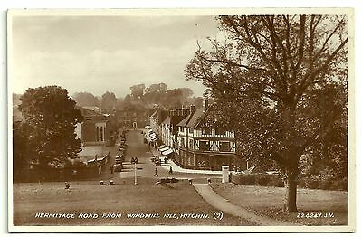 Herts postcard Hitchin Hermitage Road from Windmill Hill