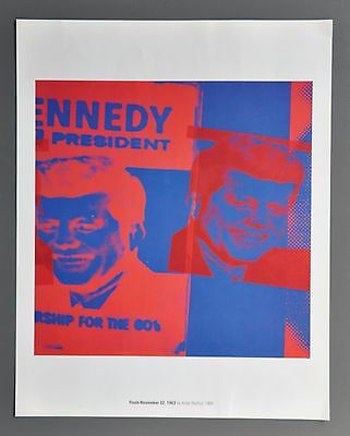 Andy Warhol Flash-November 22 Kennedy 1963 Offset Color Lithograph 34x43cm 1968