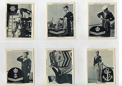 The Navy At Work'    Full Set  Issued By Churchman  In 1937  Vg/ex.   .