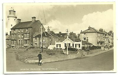 Suffolk postcard Southwold North Parade Lighthouse