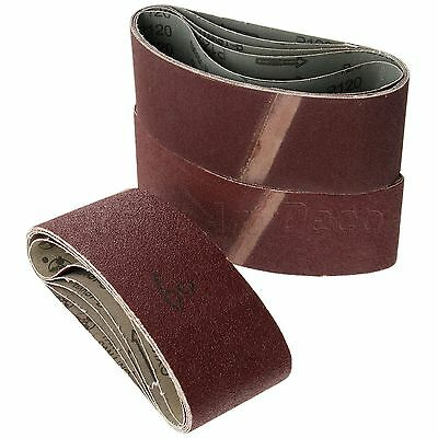 "5Pcs 75x457mm 3""x18"" Sanding Belts Grits 60 80 120 Sander Power Tool Accessories"