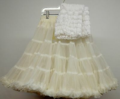 40 Yd Off White Nylon Square Dance Petticoat And Pettipants