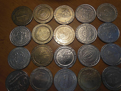 Casino Gaming Tokens 80's 90's Casino Dollar coins lot 20 all different