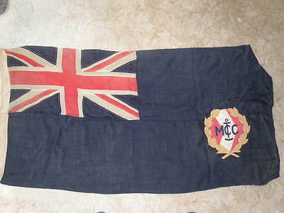 VINTAGE DEFACED BLUE ENSIGN – 53X27inches –PANEL STITCHED