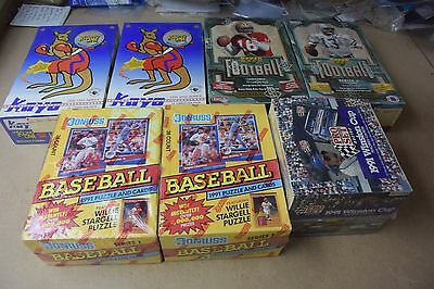 Factory Sealed Wax Box Lot of 7 Boxes w/ 1992 Upper Deck Football, 1991 Donruss