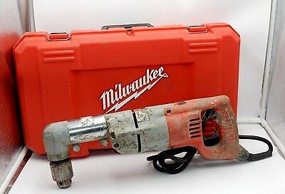 """100% Functional ~ Milwaukee Heavy Duty #1107-1 Corded 1/2"""" Right Angle Drill"""