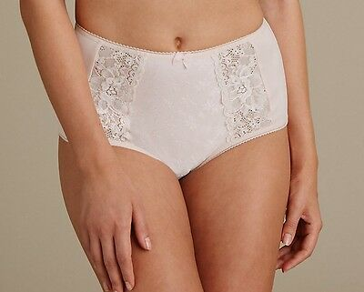 Marks and Spencer Ladies Pink High Rise Pretty Full Briefs Size 16 Knickers BNWT
