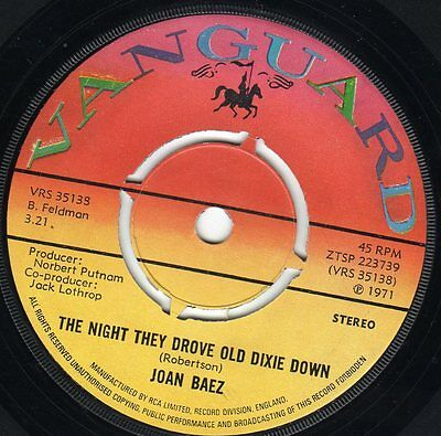 Joan Baez  The Night They Drove Old Dixie Down