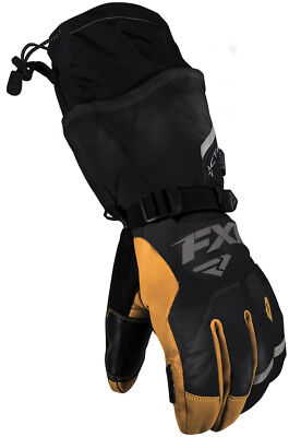 FXR Tactic Leather Gauntlet Snowmobile Gloves 2018