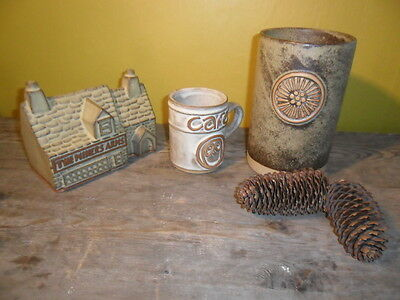 TREMAR POTTERY VASE CAFE MUG AND MINERS ARMS MONEY BOX * Free Post and Packging