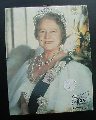 Rare Waddingtons jigsaw-Queen Mother's 75th birthday 1975-125 pieces