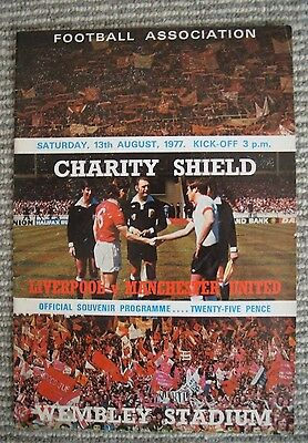 Programme-Charity Shield-Liverpool v Manchester United-Aug 1977 at Wembley