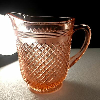 1935-'38 Anchor-Hocking Glass MISS AMERICA PINK PITCHER - 65 Ounce - Very Nice!