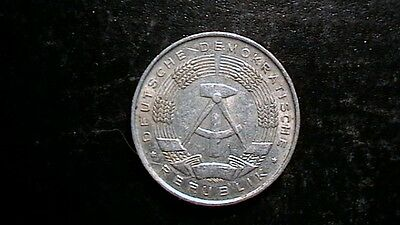 East Germany 1 Pfenning 1961-A Lightly Circulated Coin -  RARE!  756B3