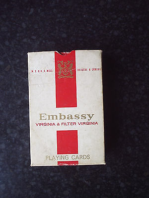 Vintage Waddingtons W D & H O. Wills Embassy Promotional Playing Cards 1970's